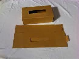 cara membuat kotak tisu dari kardus bekas
