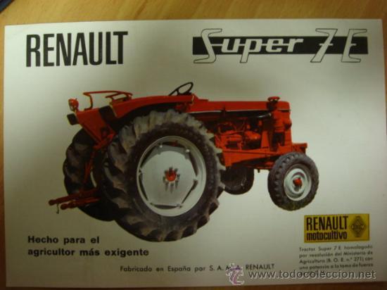 maquiinaria agricultura y ganaderia tractor renault super siete e. Black Bedroom Furniture Sets. Home Design Ideas