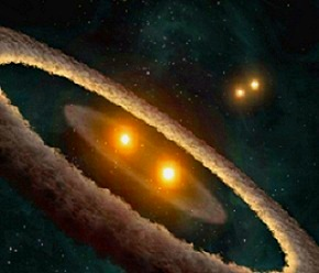 planeta con cuatro soles