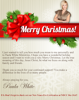 "Paula White  ""Merry Christmas!!"""