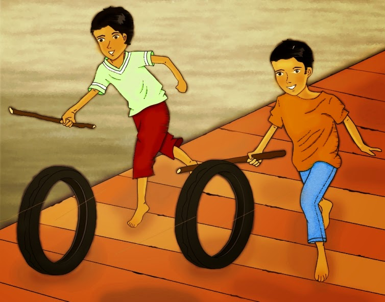 tire-racing-digital-children-art