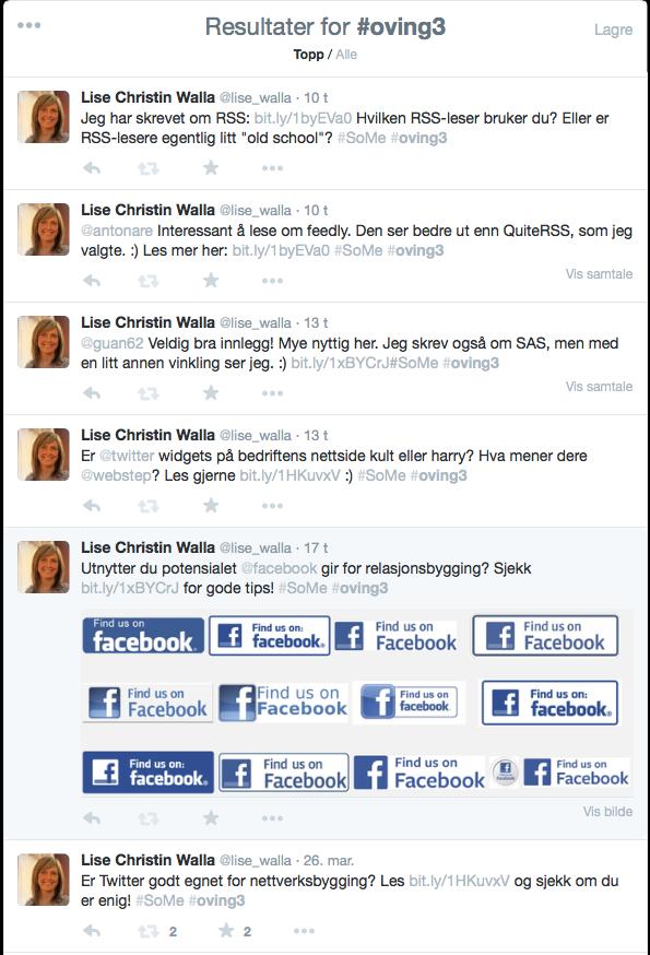 """""""Spamming"""" av Twitter for å få flere lesere på bloggen..."""
