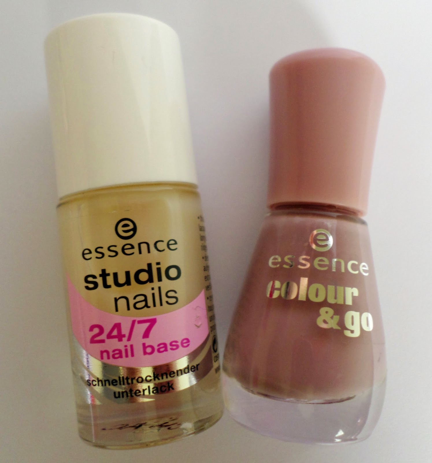 Essence Studio Nails 24/7 Base Coat and Colour & Go in Love Me, Cupcake!