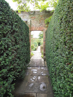 Hedges and garden room with vista, Sissinghurst Castle, Kent