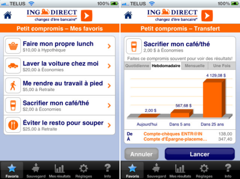 ING Direct sur iPhone