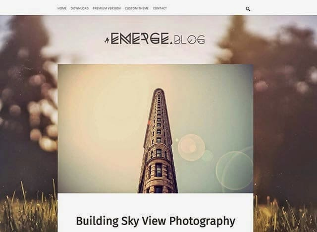 Emerge Responsive Blogger Teması