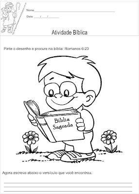 Atividade bíblica para ler e colorir Mateus 6:33