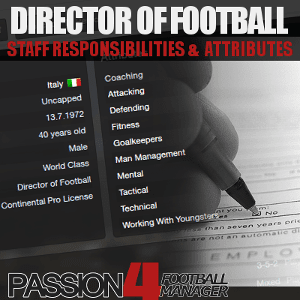 Director of Football - Football Manager staff role