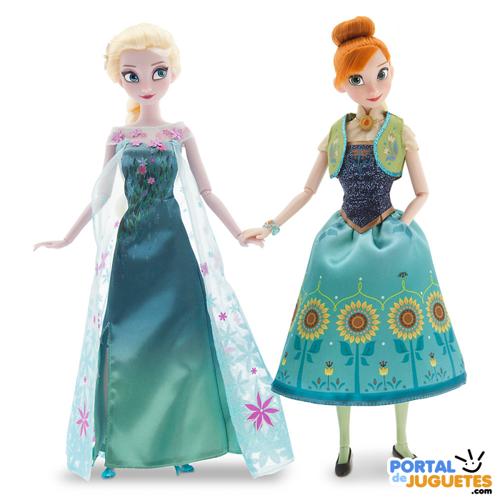set muñecas elsa anna frozen ever disney store