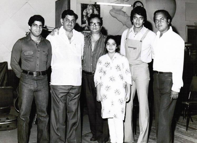 Ashim Samanta, Anand Bakshi, RD Burman, Mithun Chakraborthy and Shakti Samanta