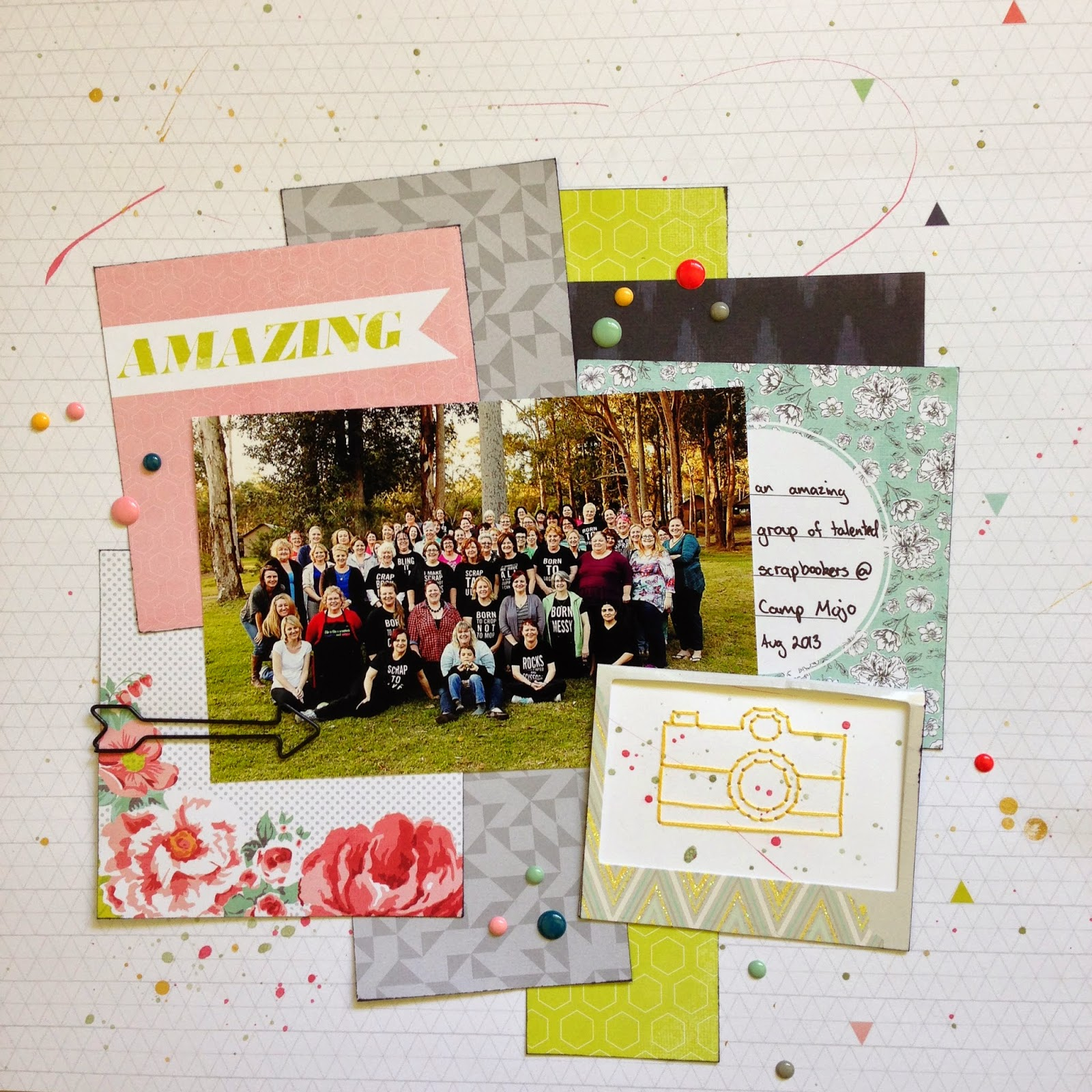 'Amazing' - Layout by Tracey Kinny for Dizzy Izzy Scrapbooking