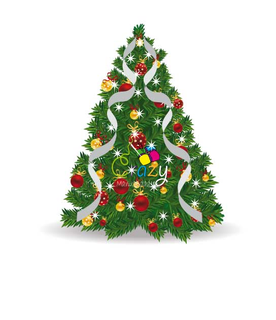 Crazy manualidades como decorar un arbol de navidad con liston - Como decorar un arbol de navidad ...