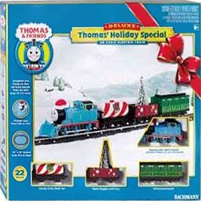 HO electric Bachmann Trains Thomas Holiday Special Ready-to-Run HO Train set collectible toy package