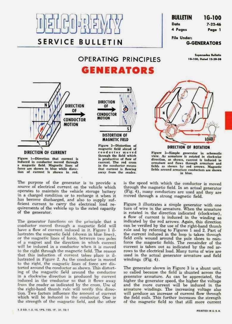Cessna 140 Rebirth Generator And Starter Manuals Early Delco Wiring Diagram For The There Are 3 Bulletins Ive Shown First Pages Of Each Here Three