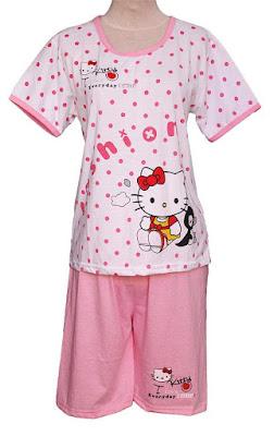 baju tidur anak perempuan hello kitty