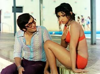 Dimple Kapadia with Rishi Kapoor