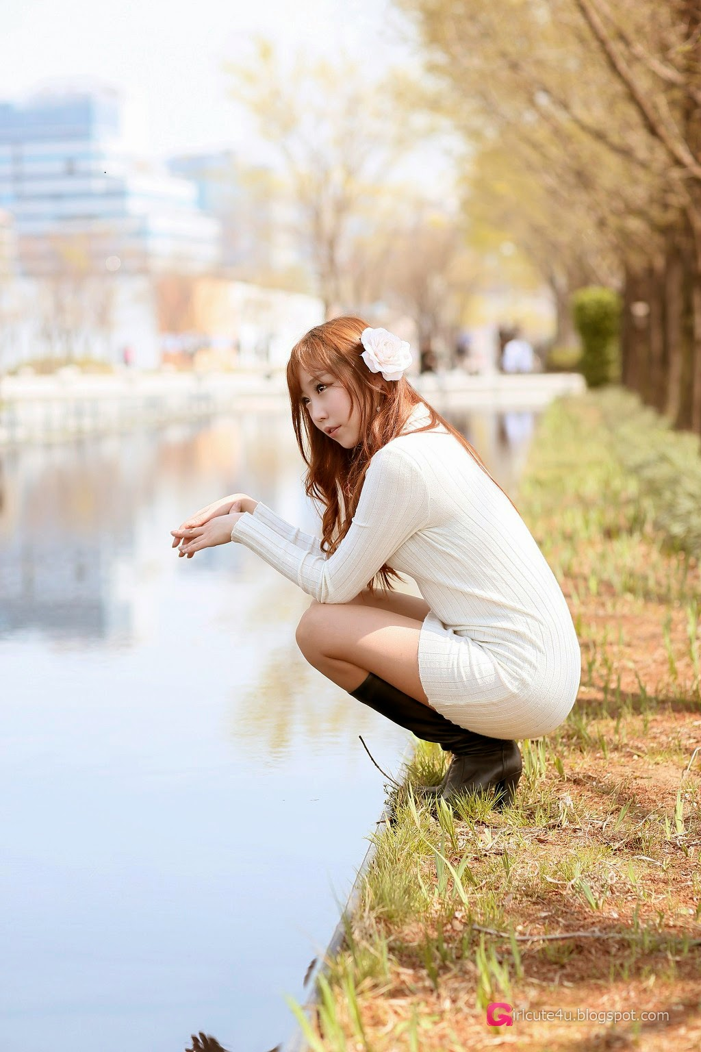 2 Kim Da On - Down By The River - very cute asian girl-girlcute4u.blogspot.com