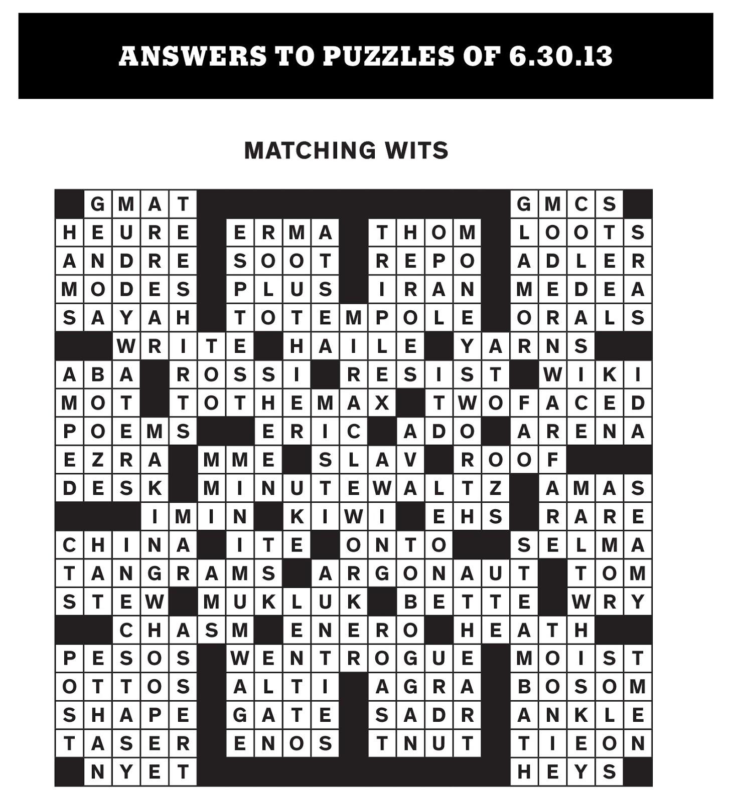 Rex Parker Does the NYT Crossword Puzzle: June 2013