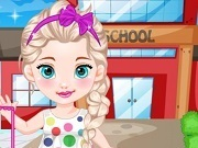 Baby Elsa Goes To School