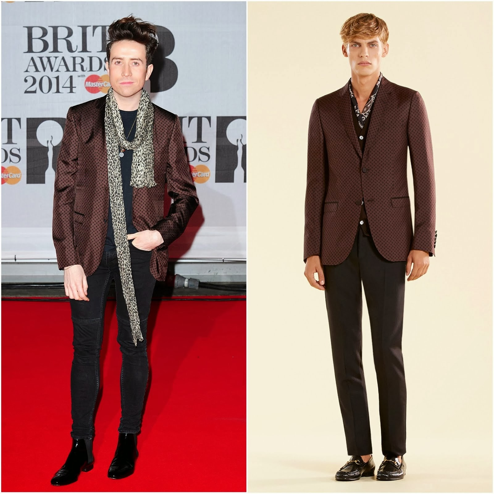 Nick Grimshaw in Gucci - BRIT Awards 2014