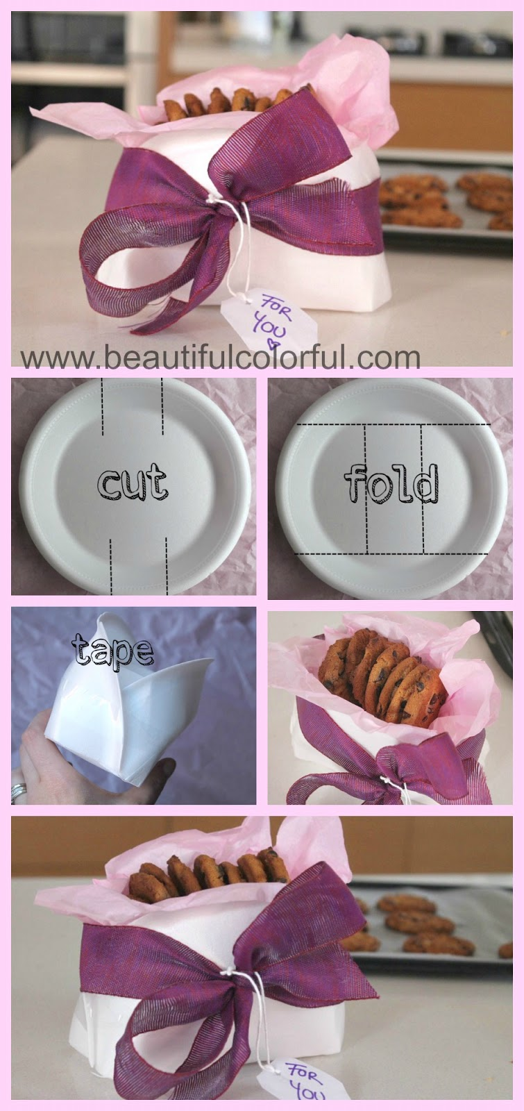 diy beautiful and easy paper plate cookie baskets - beautiful & How To Make Cookie Baskets Out Of Paper Plates \u2013 Buffet Design