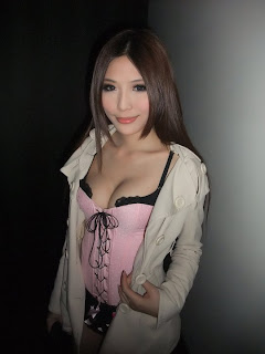 Li Xiao Xing Taiwan Sexy Model Sexy Pink Dress In Night Club 6