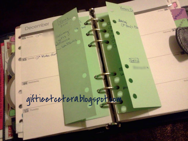 planner; planner pages; planning projects; Christmas plans