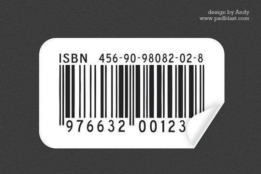 Barcode sticker PSD