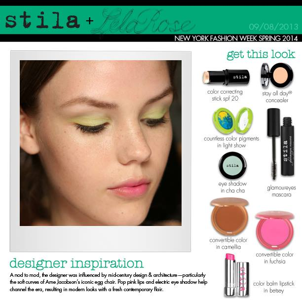 Stila Cosmetics Presents Backstage Beauty Pass For the Lela Rose Spring 2014 Collection