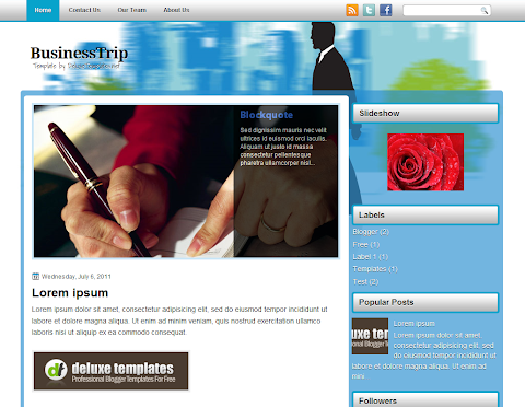 BusinessTrip Blogger Theme