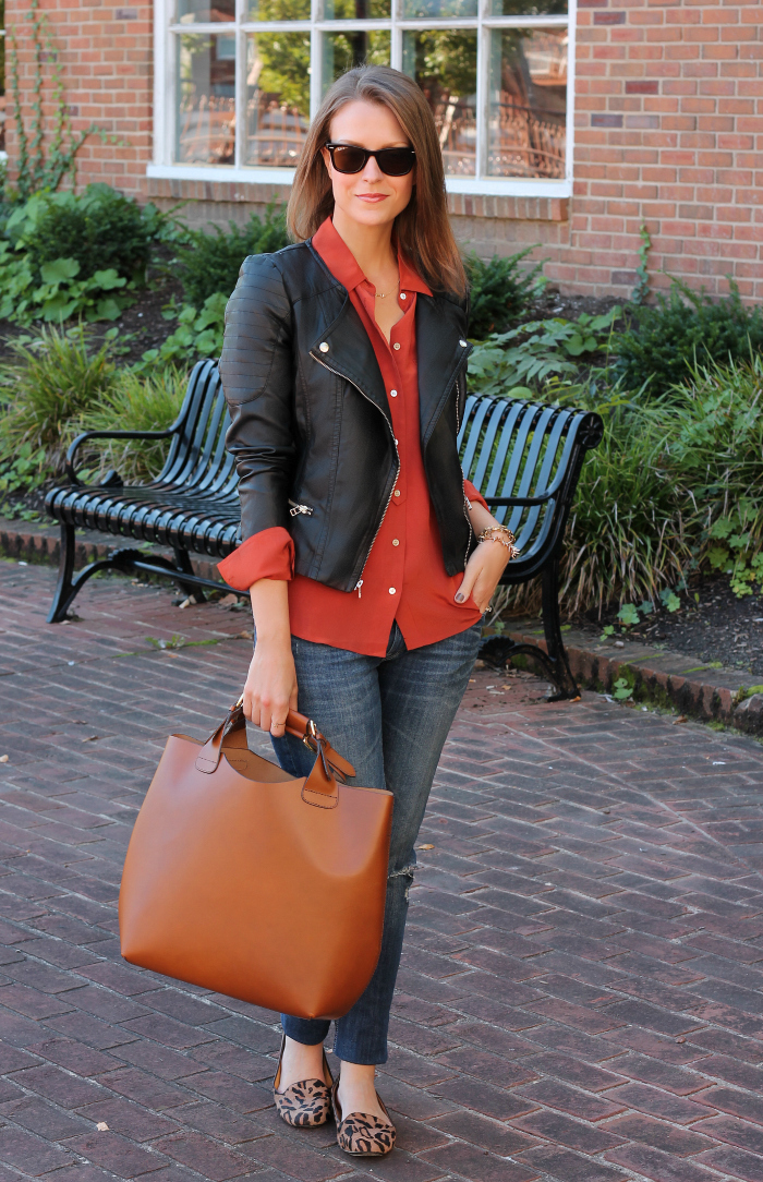 ... Faux Leather Blazer, Old Navy Shirt, Cynthia Rowley pants (similar),  Chinese Laundry Danger Zone Pumps (now under  40!), Michael Kors bag c o TJ  Maxx, ... 25b1cce609