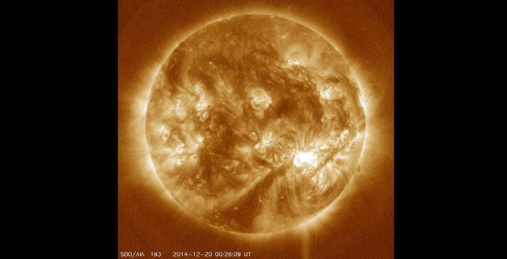 Image of the Sun on Dec. 20, 2014. Credit: NASA/Solar Dynamics Observatory