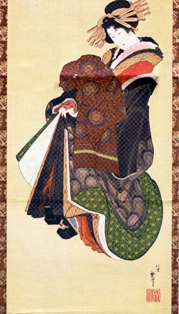 hokusai katsushika courtisane