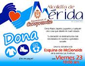 Alcaldía de Mérida promueve Jornada de Donación para los más necesitados