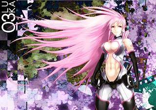 Pink Long Hair Tight Suit Abs Cleavage Girl Anime HD Wallpaper Desktop PC Background 1822