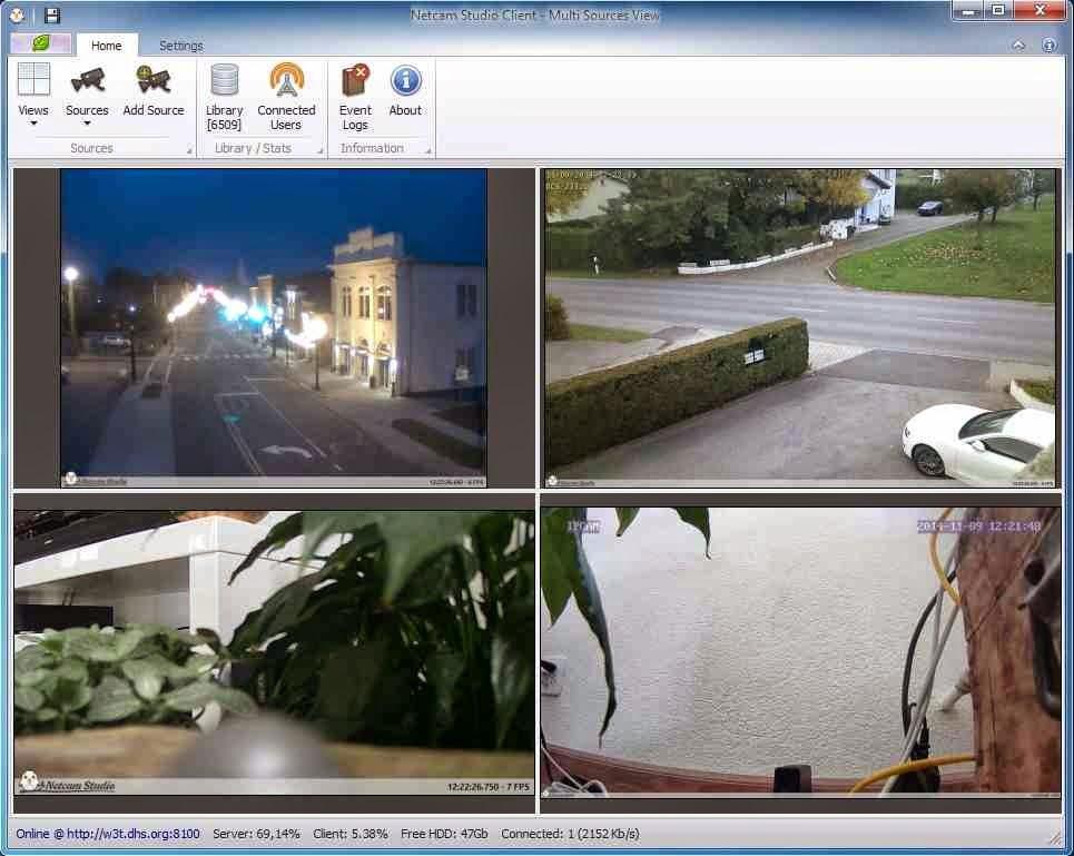 أفضل برنامج لعمل نظام مراقبة متكامل بالكاميرات العادية لمنزلك او مكتبك Netcam Studio