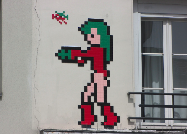 "Freshly returned from his month long stay in Hong Kong for ""Wipe Out"", his latest Explosition, Invader has already started a new wave of invasions on the streets of Paris in France."