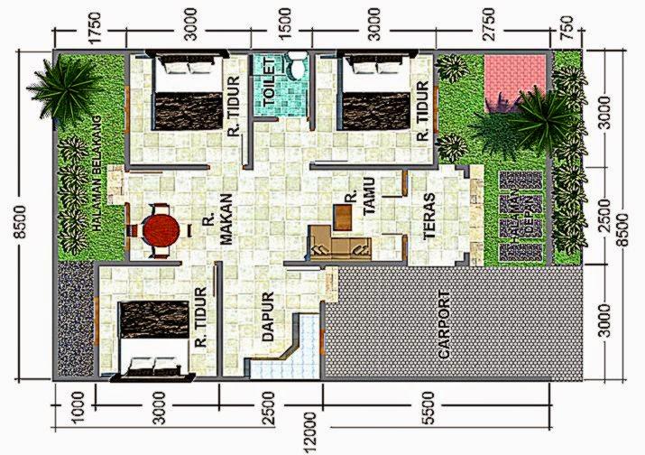 Contoh Denah Rumah Minimalis 2 Lantai Sederhana  Gambar Rumah