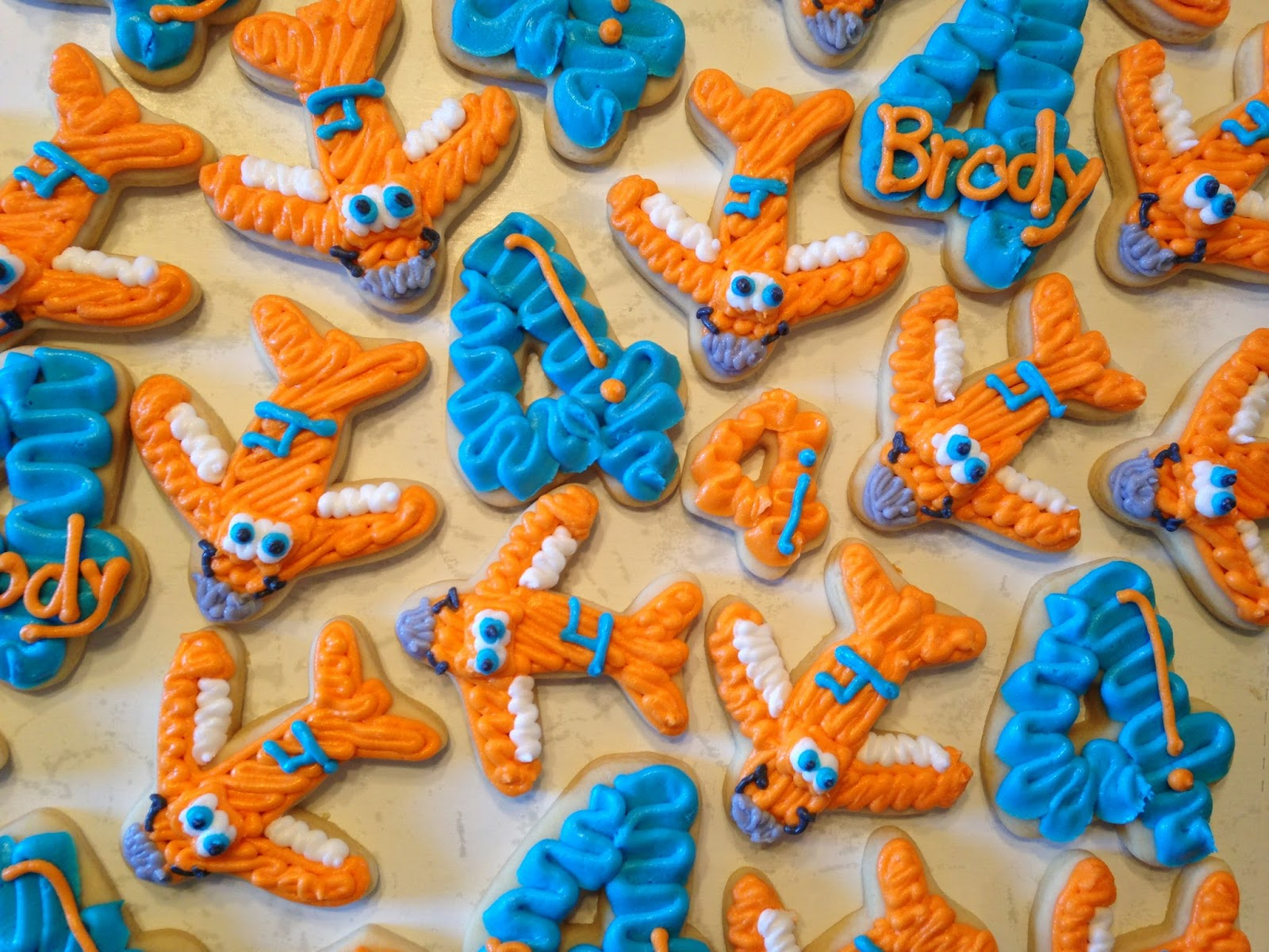 Candaces Cookie Creations Planes Dusty Crophopper Cookies