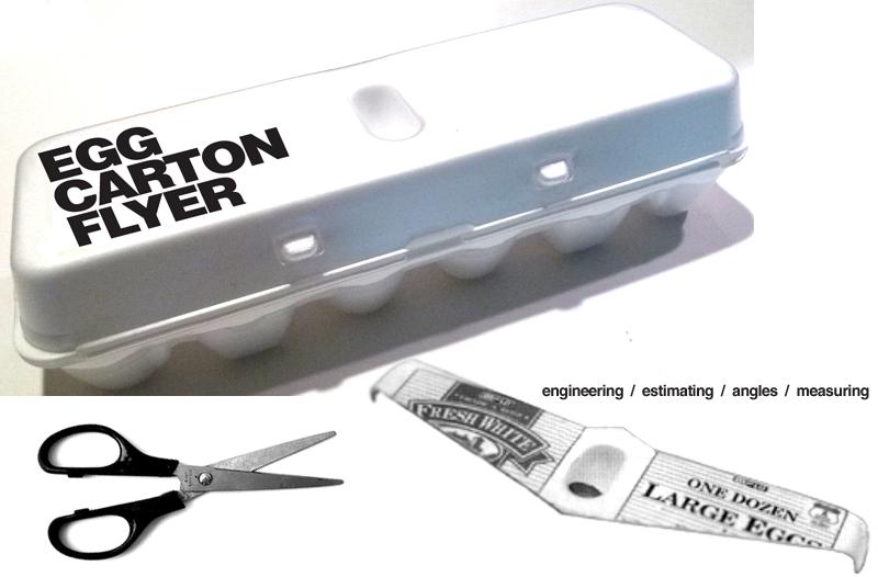 E is for explore egg carton flyer for Egg carton labels template