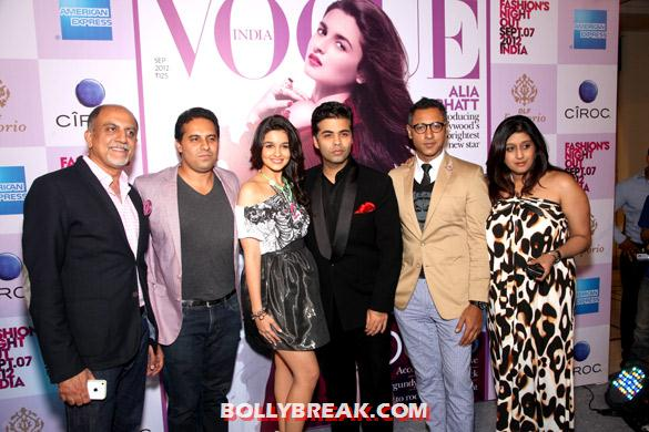 Alex Kuruvilla, Alia Bhatt, Karan Johar - Alia Bhatt at Vogue India&#39;s Fashion&#39;s Night Out extravaganza