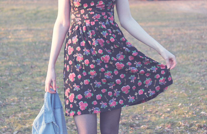 Kristine's Collection Key and Roses Dress