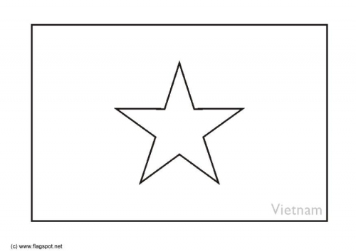 Argentina Flag Coloring Page