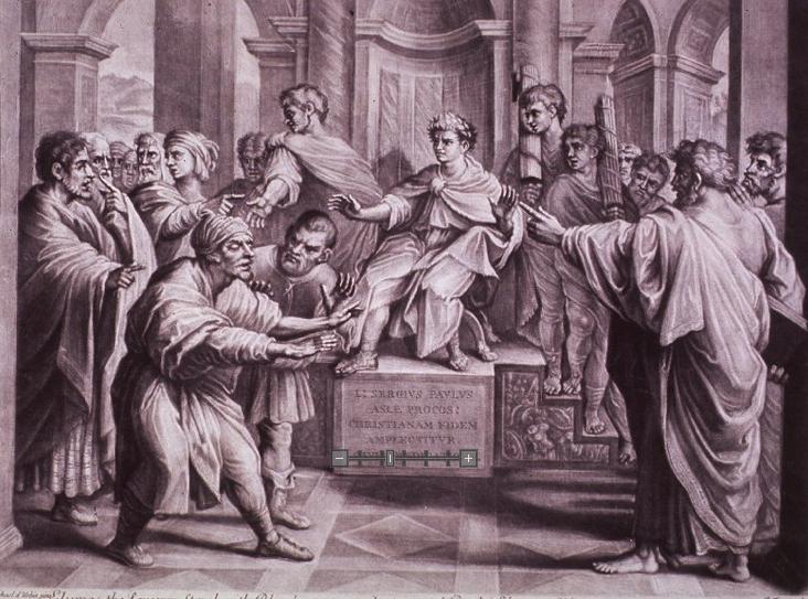Elymas the Sorcerer Struck With Blindness - Raphael