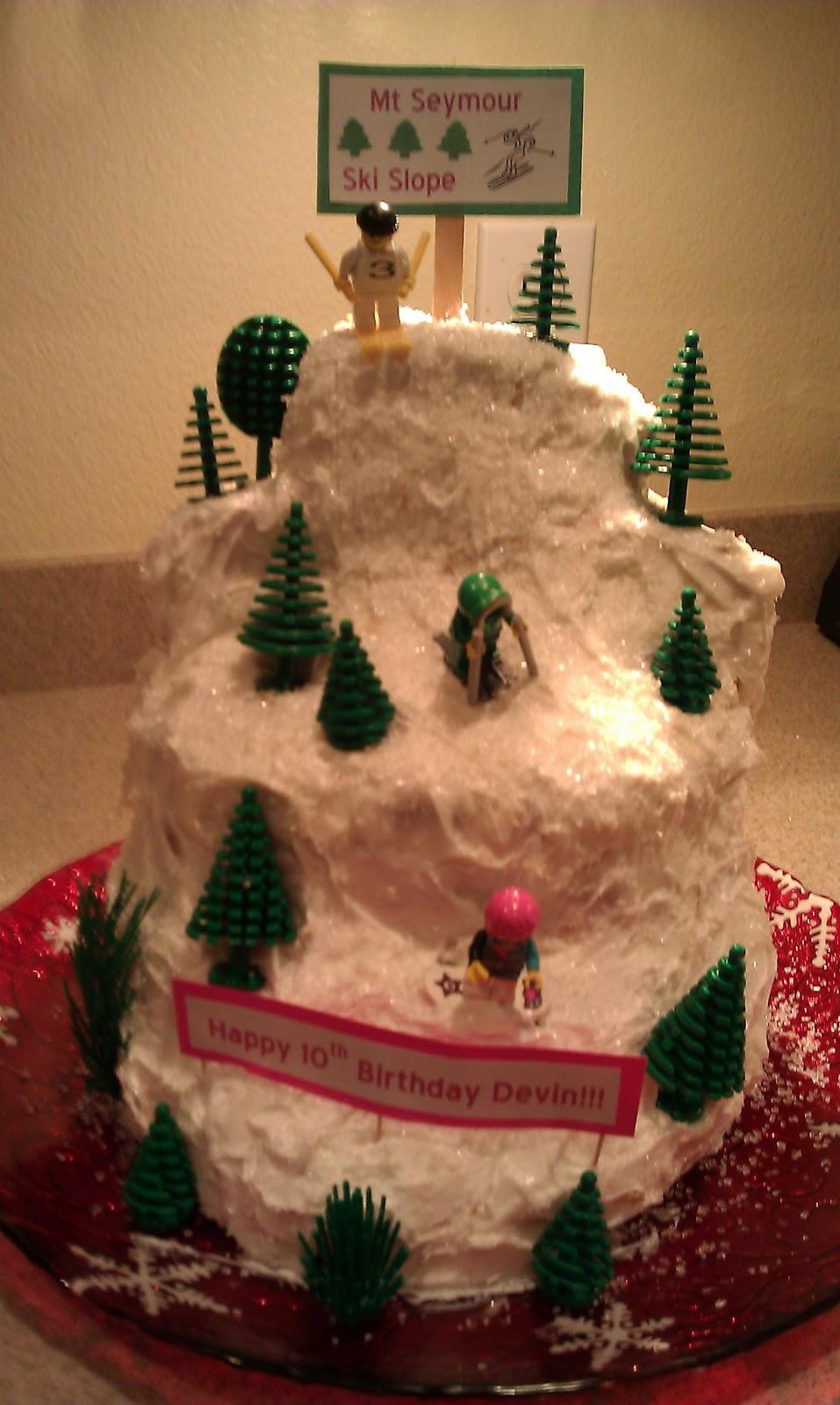 Be Staged With Kim Winter Ski Mountain Cake