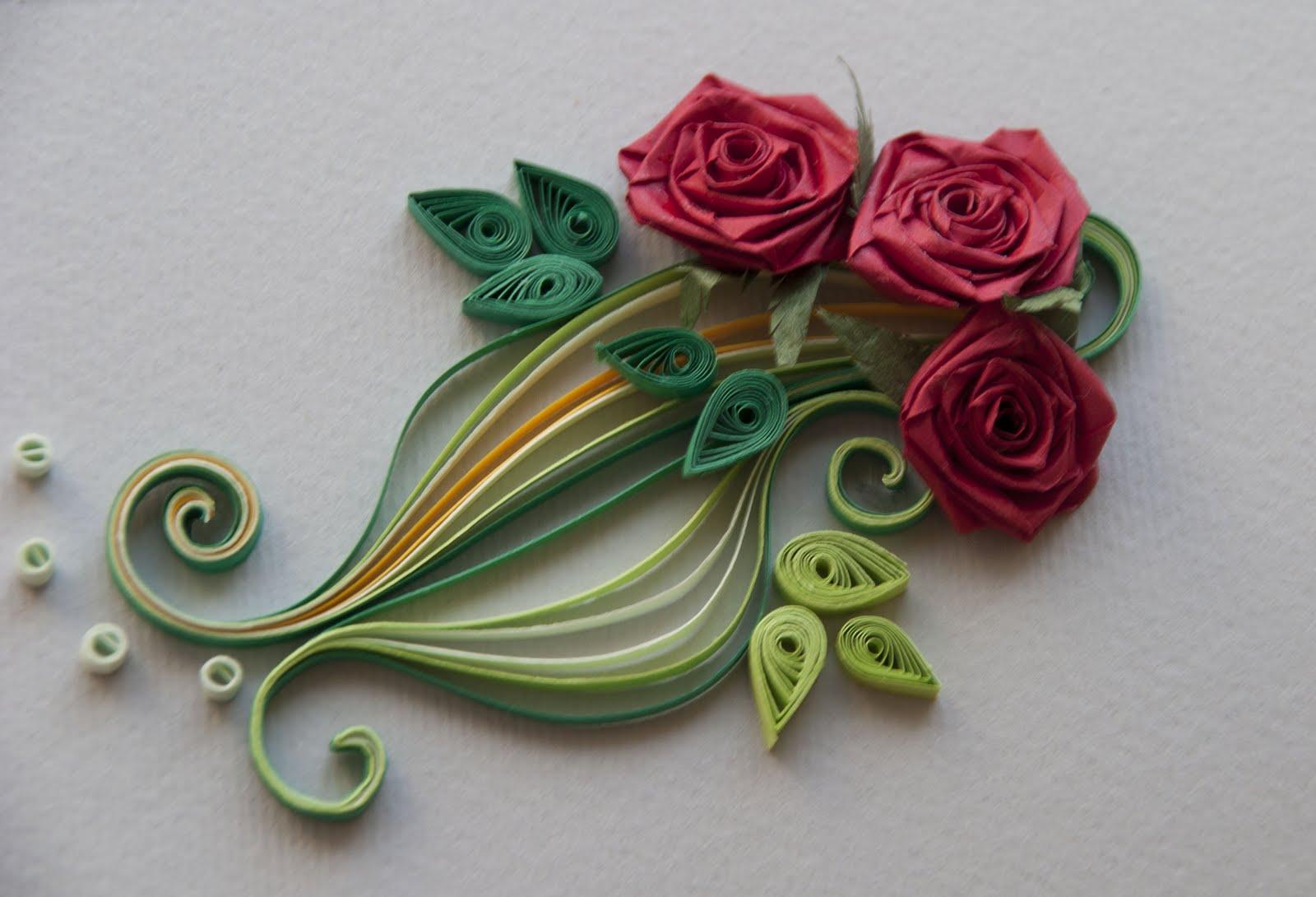 Квиллинг мастер класс с пошаговым розы