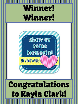 Fern Smith's Classroom Ideas Bloglovin' Contest Winner!