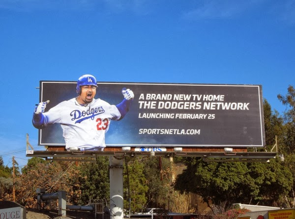Dodgers Network Adrian Gonzalez billboard