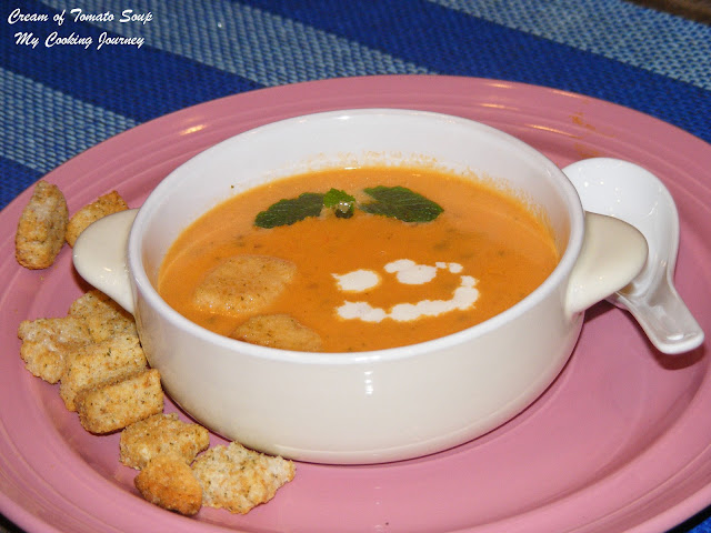 My Cooking Journey: Cream of Tomato Soup (with Mint)