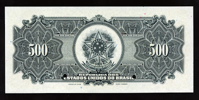 Brazil paper money currency 500 Mil Reis Cruzado Cruzeiro Real Reais